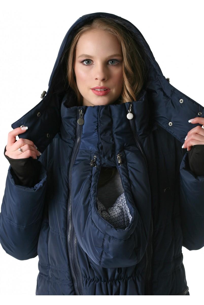 """Куртка 3в1 зимн. """"Мадейра"""" синий для беременных и слингоношения"""
