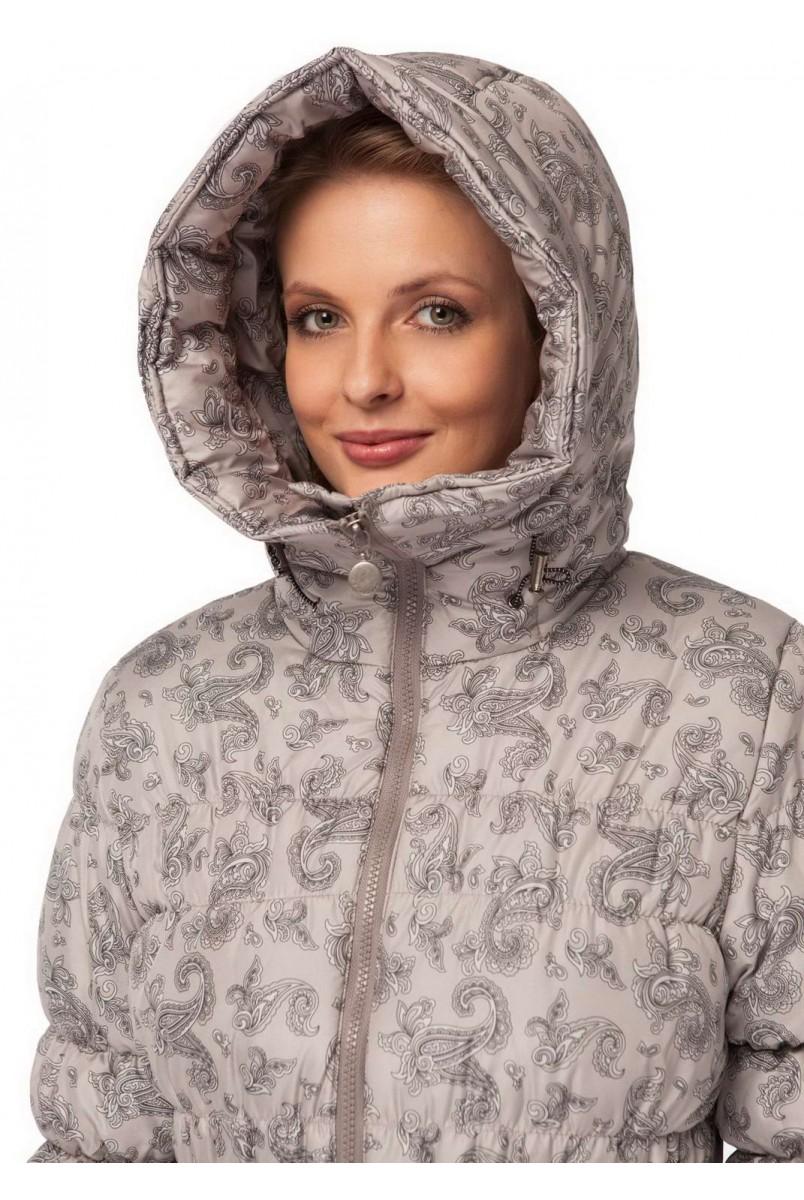 """Куртка 3в1 зимн. """"Исландия"""" пэйсли на бежевом  для беременных и слингоношения"""