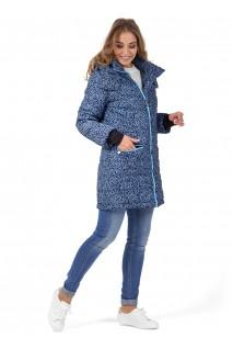 """Куртка 3в1 зимн. """"Мадейра"""" синие буквы для беременных и слингоношения"""