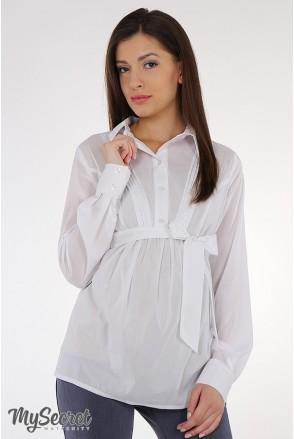 Блуза Bridgit арт. BL-15.021 белая для беременных и кормящих