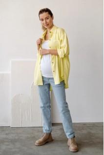 Блуза рубашка для беременных и кормления To be 2101755 желтый