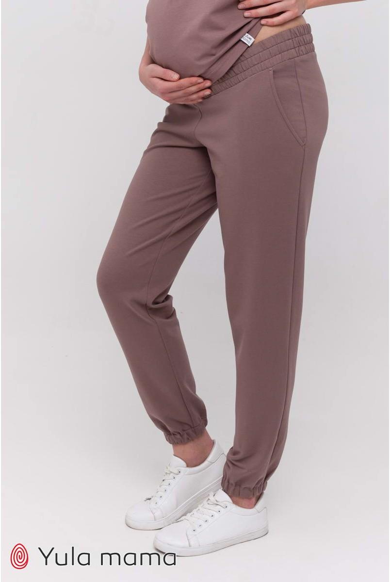 Спортивні штани-джоггери Dido Темний капучіно для вагітних