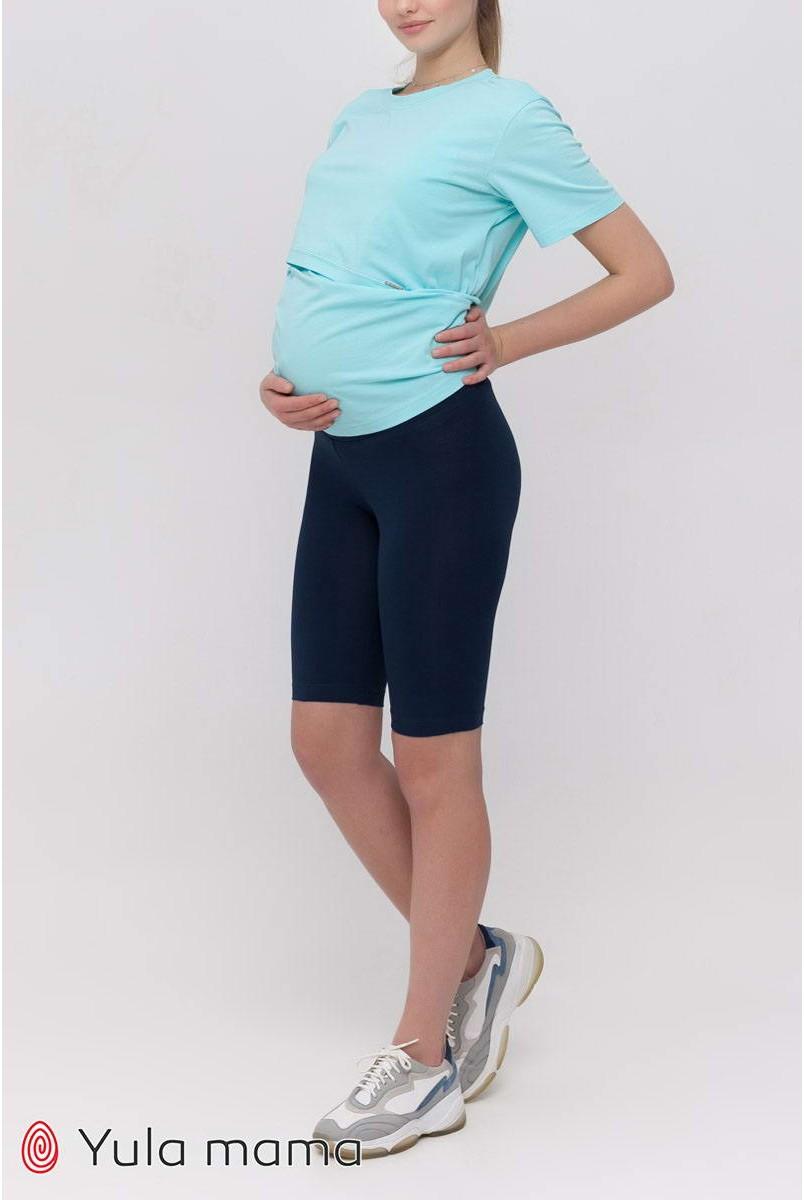 Лосини (велосипедки) Joyce Синій Для вагітних