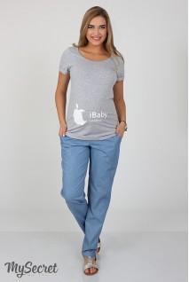Брюки Hanna TR-27.062 denim голубой джинс для беременных
