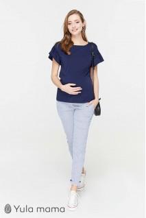 Штани Melani TR - 29.011 блакитні в білу смужку для вагітних