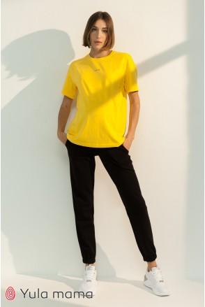 Спортивные брюки-джоггеры для беременных Юла мама Celia TR-31.011 черный