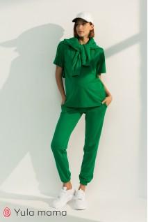 Спортивні штани-джоггери для вагітних Юла мама Celia TR-31.013 зелений