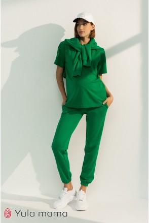 Спортивные брюки-джоггеры для беременных Юла мама Celia TR-31.013 зеленый