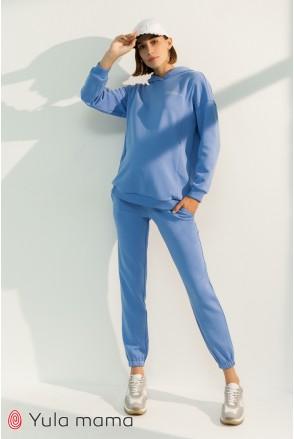 Спортивные брюки-джоггеры для беременных Юла мама Celia TR-31.015 голубой