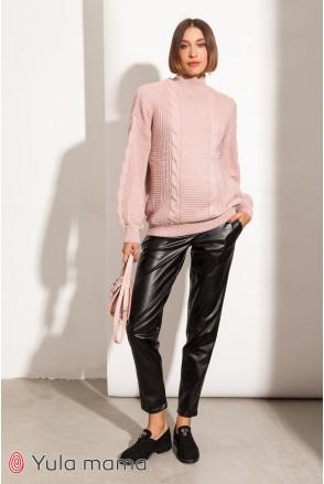 Теплые брюки для беременных Юла мама Amalia warm TR-41.121 черный