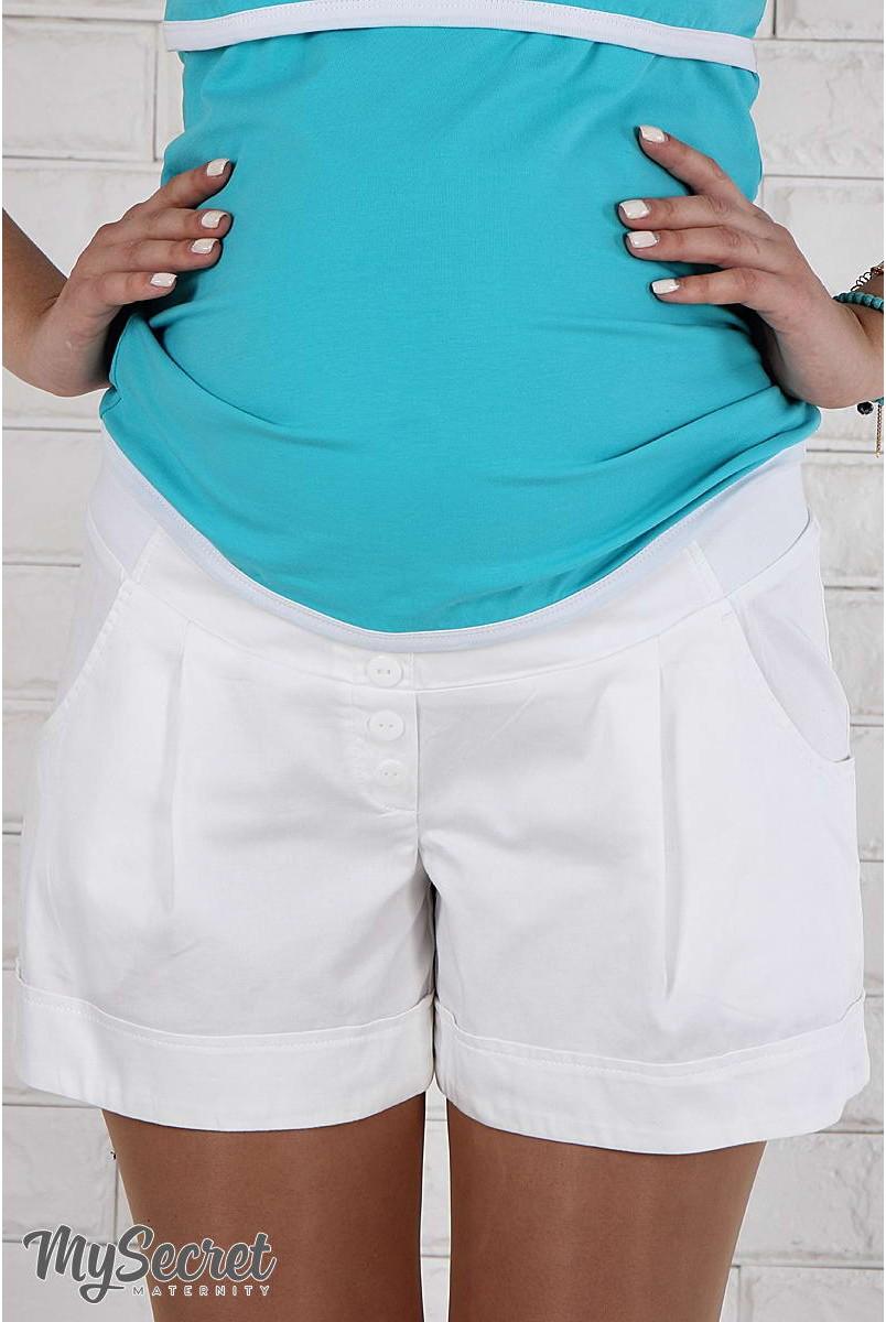 Шорты Simple белый для беременных