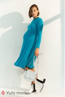 Платье для беременных и кормления Юла мама Annie DR-31.092 морская волна