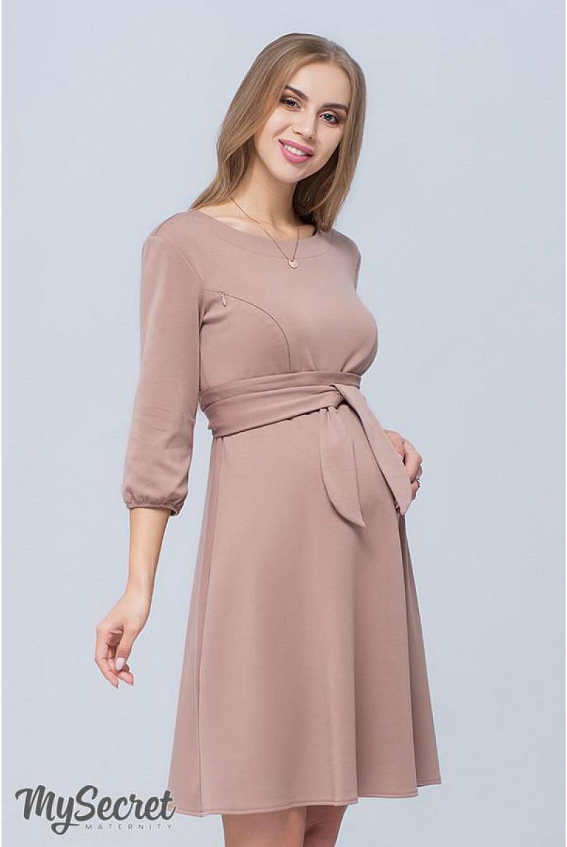 Сукня Gloria капучино для вагітних і годування