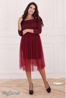 Сукня Eleonor бордовий для вагітних і годування