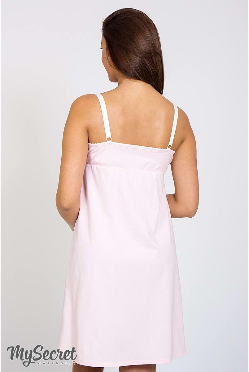 Ночная сорочка Monika new бледно-розовый для беременных и кормления