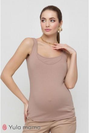 Майка Ezra світлий капучино для вагітних і годування