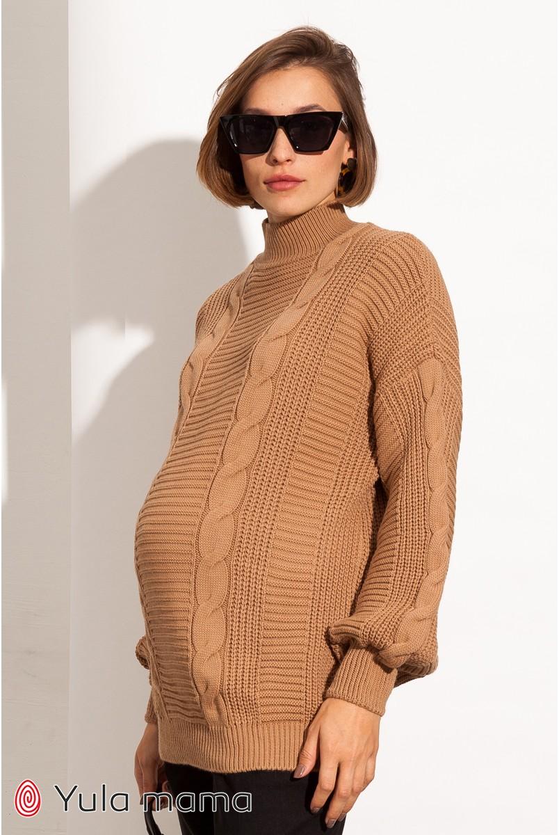 Туника для беременных Юла мама Flora SW-41.151 кэмел