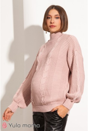 Туника для беременных Юла мама Flora SW-41.152 пудра