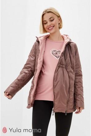 Демисезонная двухсторонняя куртка Floyd (капучино с персиком) для беременных