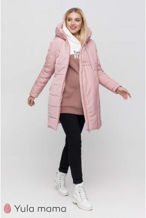 Зимнее пальто 2 в 1 Abigail пудра для беременных