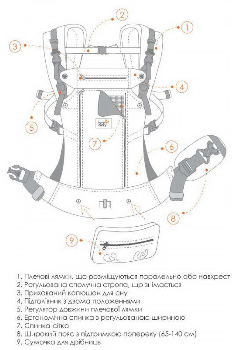 Ерго-рюкзак AIR X - Неро