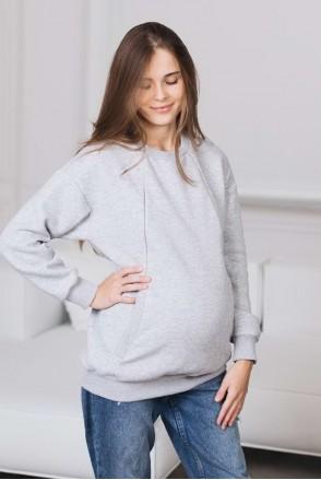 Свитшот для беременных и кормления Меланж