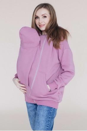 Худі для вагітних зі вставкою для дитини - Троянда