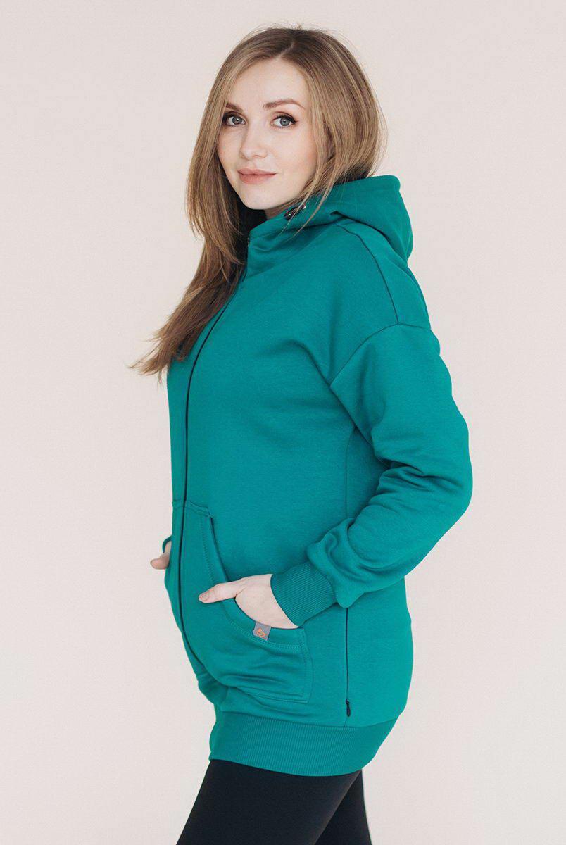 Худі для вагітних зі вставкою для дитини - Біскай