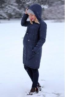 Зимнее пальто Индиго для беременных