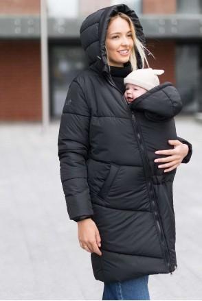 Зимняя слингокуртка 3 в 1 для беременных и слингоношения Оникс