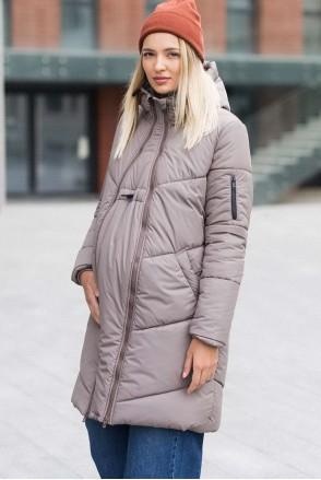 Зимняя слингокуртка 3 в 1 для беременных и слингоношения Мокка