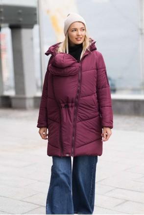 Зимняя слингокуртка 3 в 1 для беременных и слингоношения Сангрия