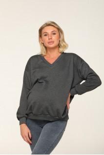 Худі Liverpool (Демі) оверсайз антрацит для вагітних