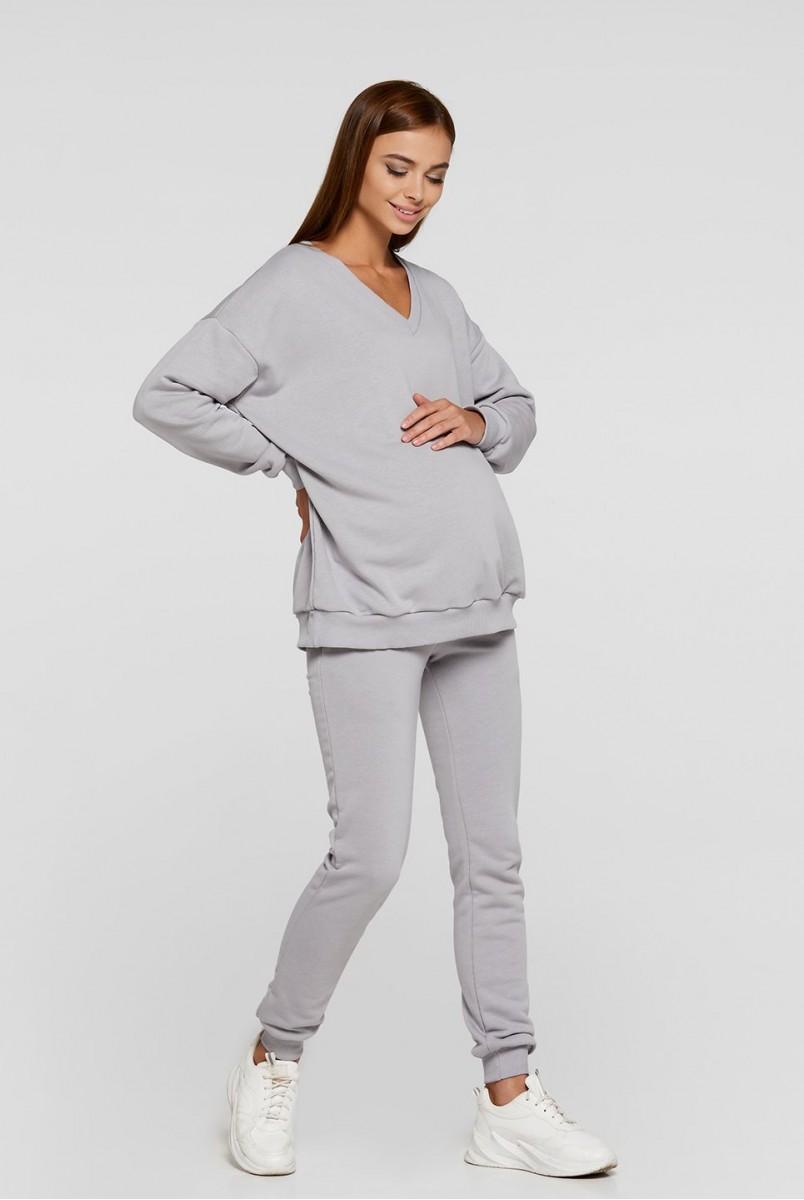 Худи для беременных (деми) Lullababe Liverpool LB06LV125 стальной