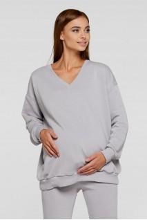 Худі для вагітних (демі) Lullababe Liverpool LB06LV125 сталевий