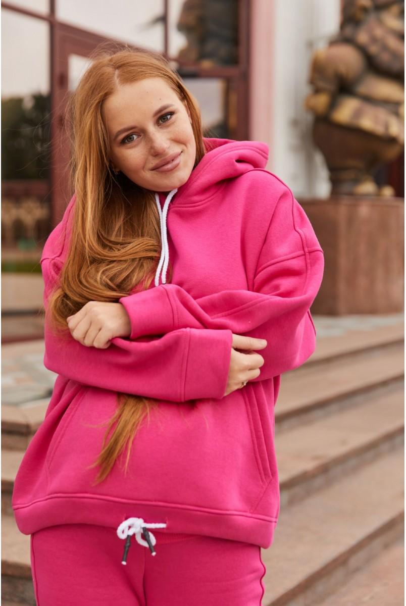 Худи для беременных (зима) Lullababe Buffalo LB06BF116 малиновый