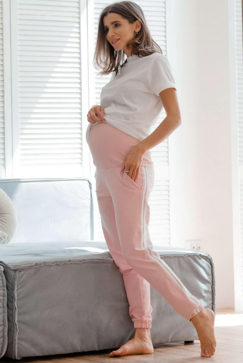 Спортивні штани c лампасами Lublin пудра для вагітних