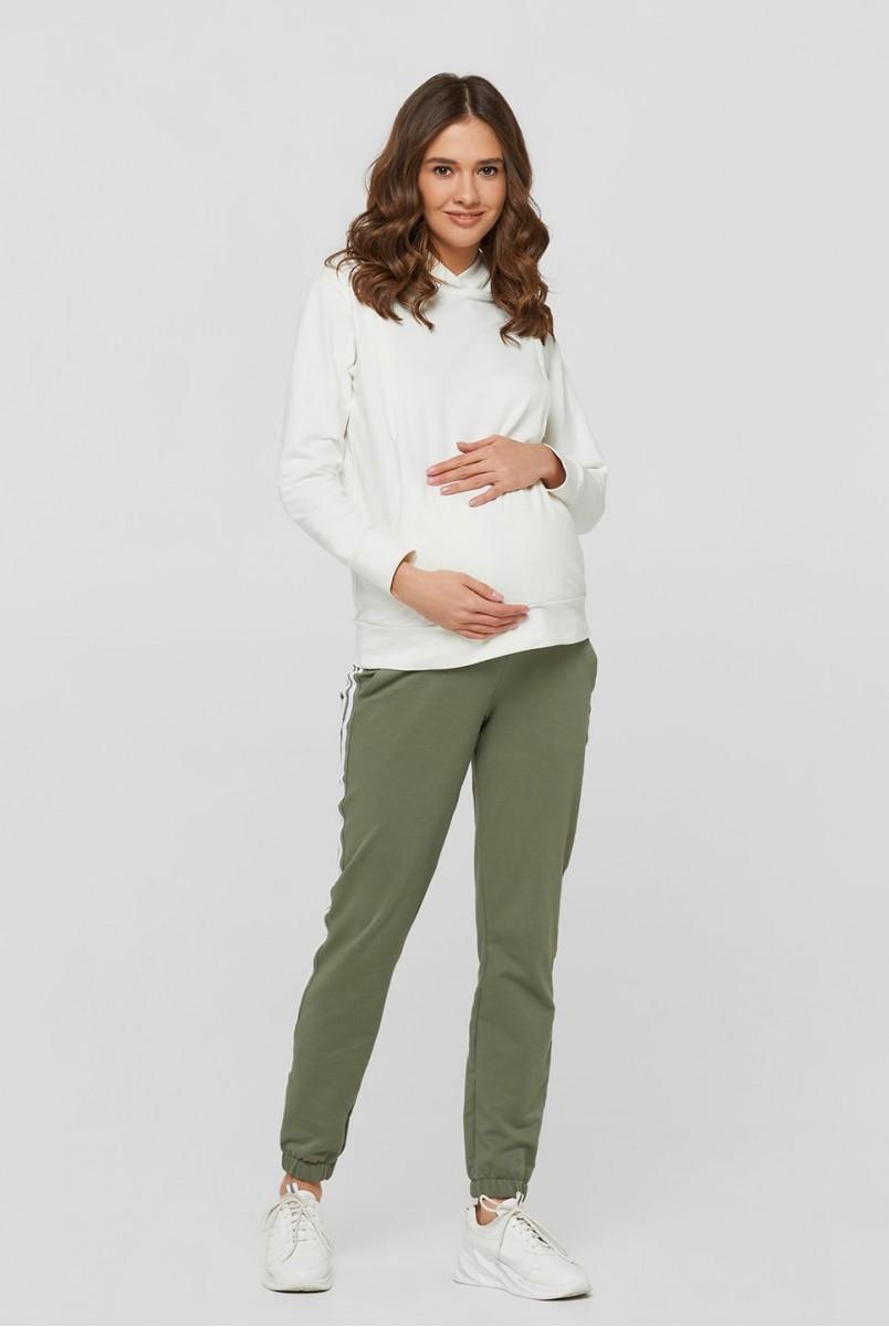 Спортивні штани c лампасами Lublin оливковий для вагітних