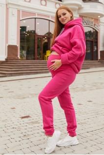 Спортивные штаны для беременных (зима) Lullababe Buffalo LB10BF116 малиновый