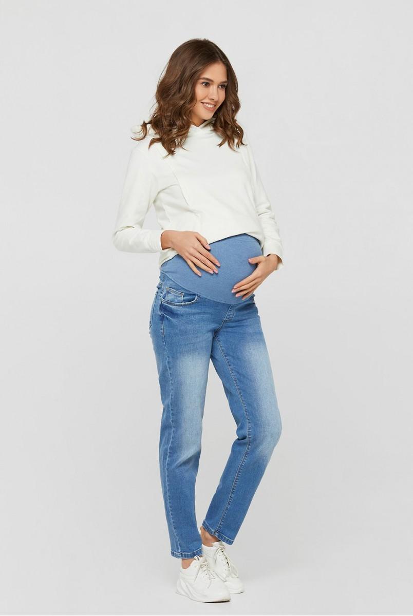 Джинси для вагітних (3799) Boyfriend світло-синій