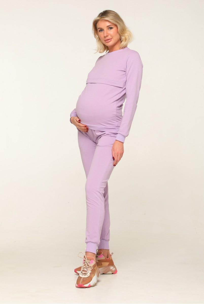 Базовий костюм Detroit бузковий для вагітних і годування