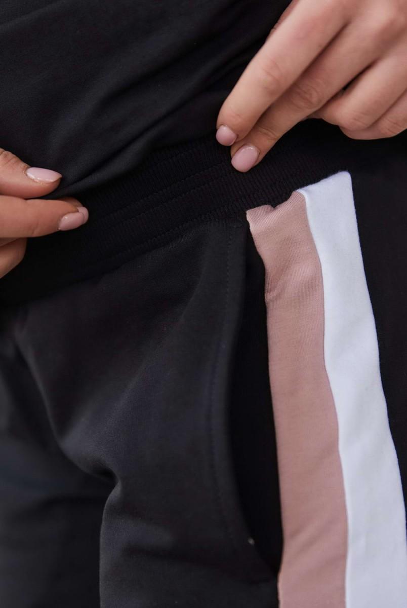 Бавовняний костюм Leganеs Пудра з чорним для вагітних і годування