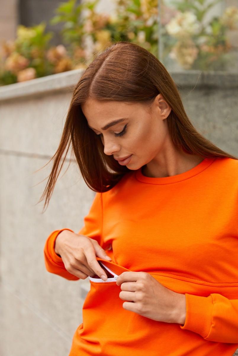 Спортивный костюм для беременных и кормления Lullababe Detroit LB07DT152 оранжевый