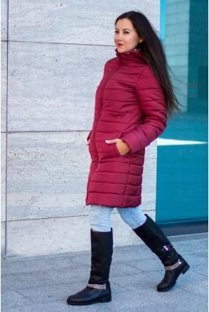 Зимняя слингокуртка 3 в 1 Dresden Бордо для беременных