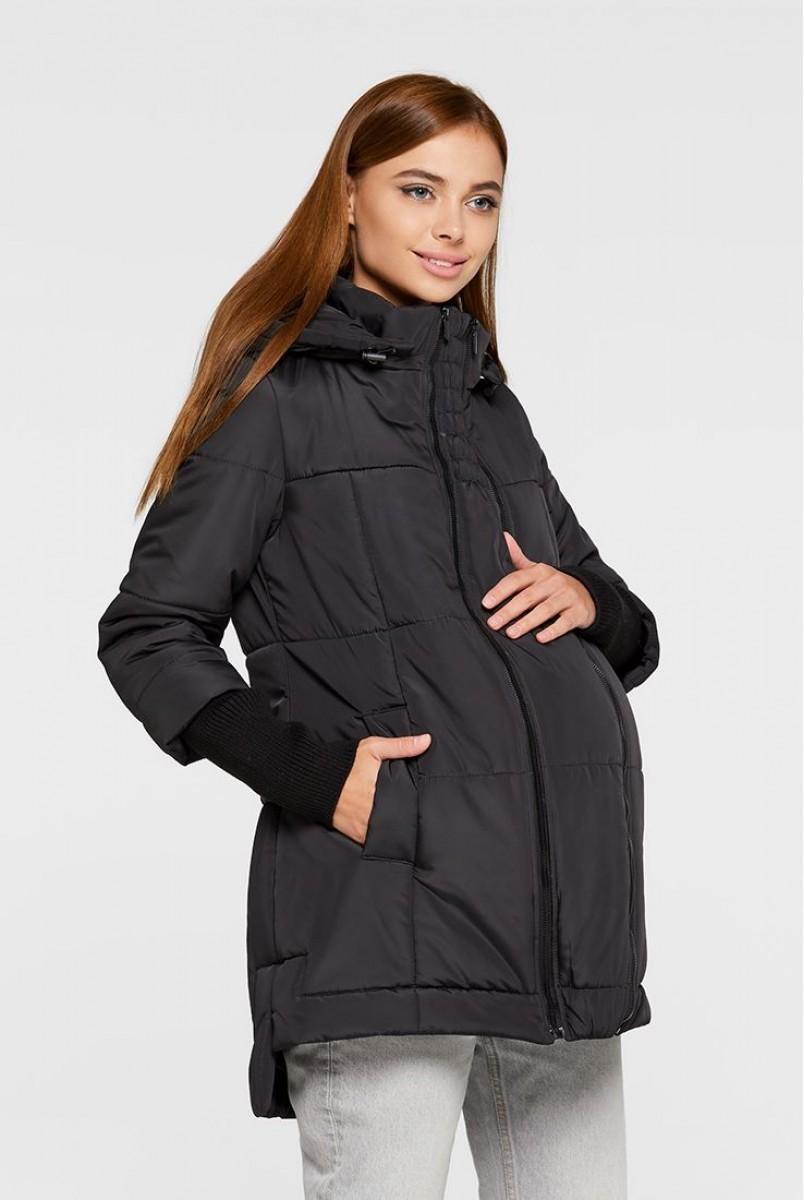 Слингокуртка 3в1 еврозима для беременных Lullababe Nurmes LB01NR136 черный