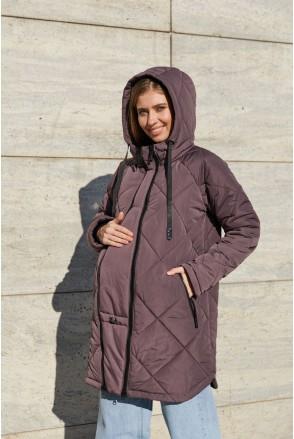 Зимняя слингокуртка 3в1 для беременных Lullababe Congo LB01CN157 коричневый