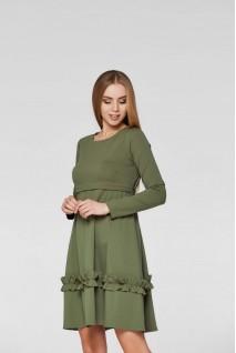 Платье Paris Хаки для беременных и кормления