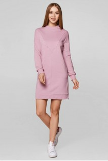 Платье-худи Bermudy пыльная роза для кормящих