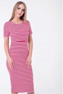 Платье Barcelona миди красный с белым для беременных и кормящих