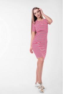 Платье Barcelona (мини) красный с белым для беременных и кормления